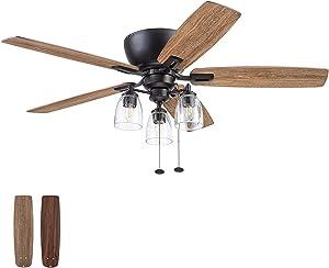 Prominence Home 51486-01 Arthur Ceiling Fan, 52, Espresso
