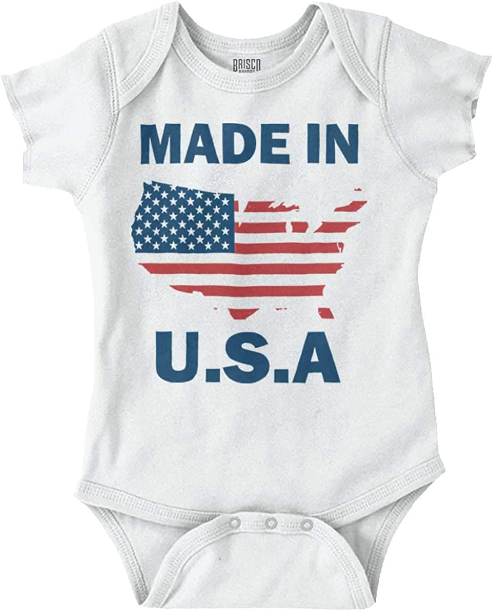 Born in The USA Patriotic Cute Infant Baby One-Piece Cotton Bodysuit Romper