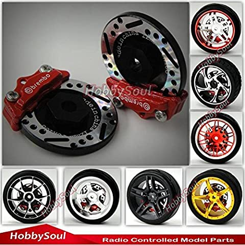 2pcs RC 1/10 RC Alloy Brake Disc Caliper 12mm Hub for 1/10 RC Racing Model Car - Cars Brakes