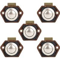 Bona 5 stuks drukknop Catch deurslot 15-27 mm vergrendelingsregelaar voor boot paardenhanger camper RV (5 stuks bruin…