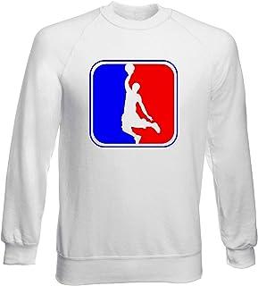 T-Shirtshock Sweatshirt Ras du Cou por Homme Blanc WTC1569 Basketball League