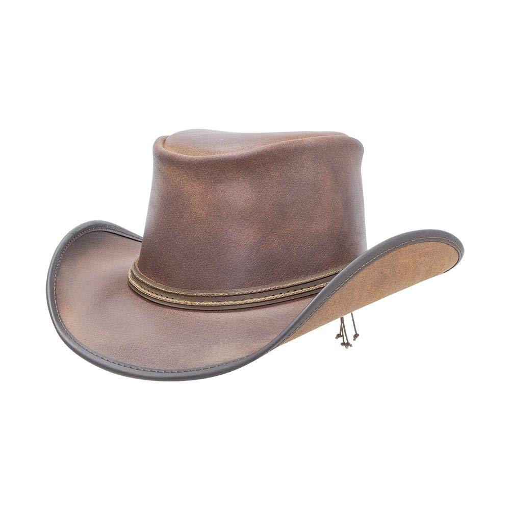 American Hat Makers Reno-2 Cord Band by Double G Hats Western Leather Hat, Vintage - Medium