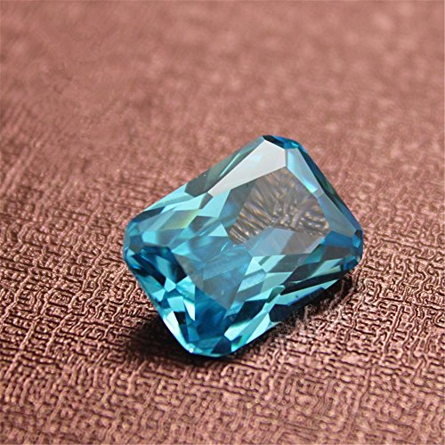 Aquamarine Rectangle Faceted Gemstone Radiant Cut Aquamarine Gem Multiple Sizes to Choose C42A