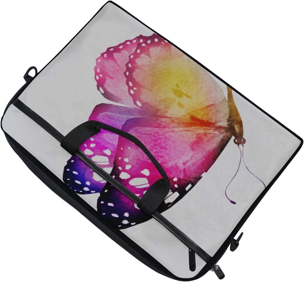 Briefcase Messenger Shoulder Bag for Men Women College Students Business People Office Workers Laptop Bag Butterfly Isolated On White 15-15.4 Inch Laptop Case