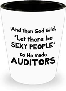 Novelty Present For Auditor Shot Glass Audit Auditing Funny Cute Gag Appreciation Day Idea Ceramic Tequila Shotglass Drinkware Office Co Worker Desk Decor - Sexy People XV051B