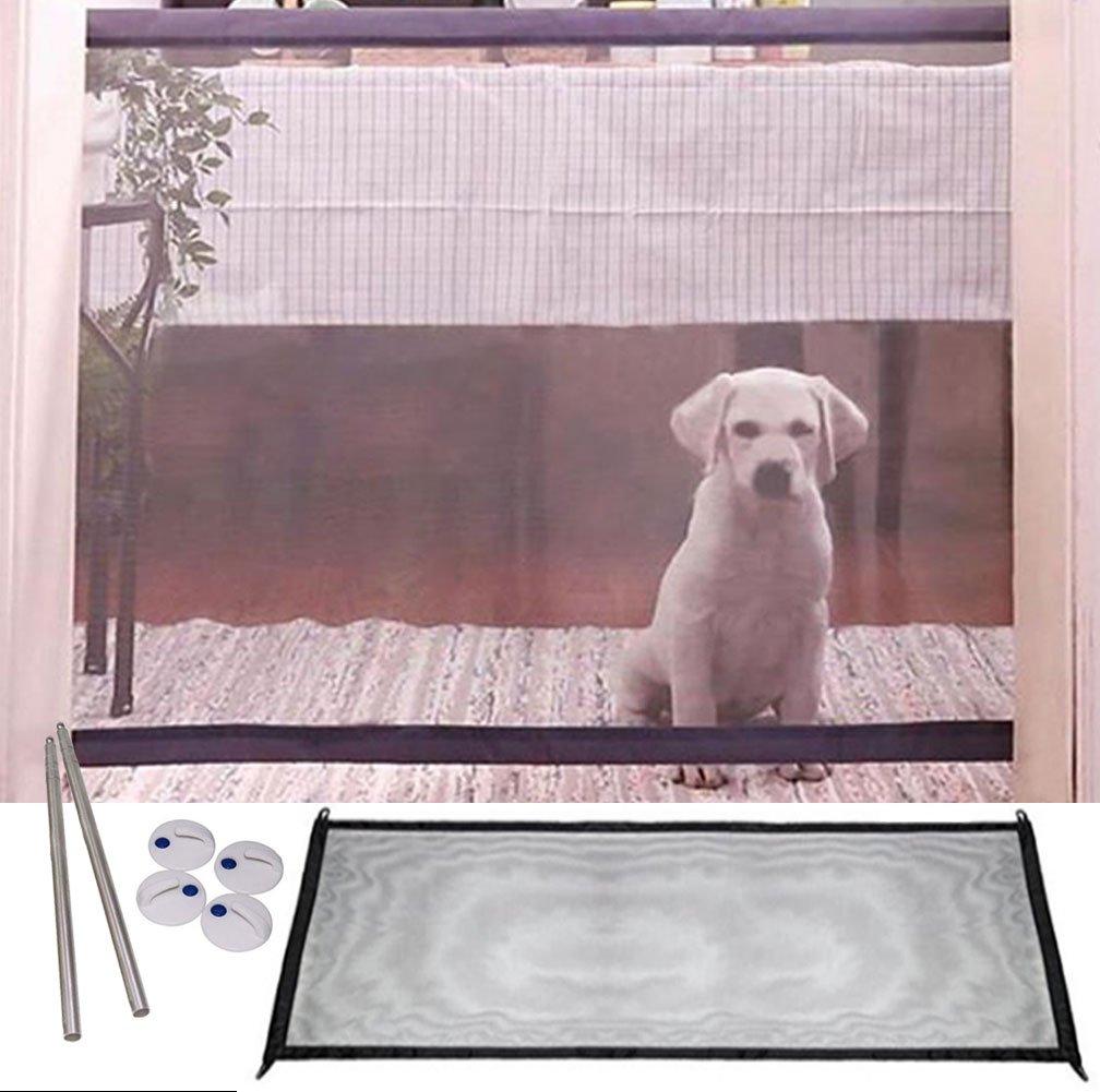 KIKIGOAL Magic Gate Portable Folding Safe Guard Install Anywhere,Animals Favorite Pet Retractable Safety Gate (110x72cm) by KIKIGOAL (Image #9)