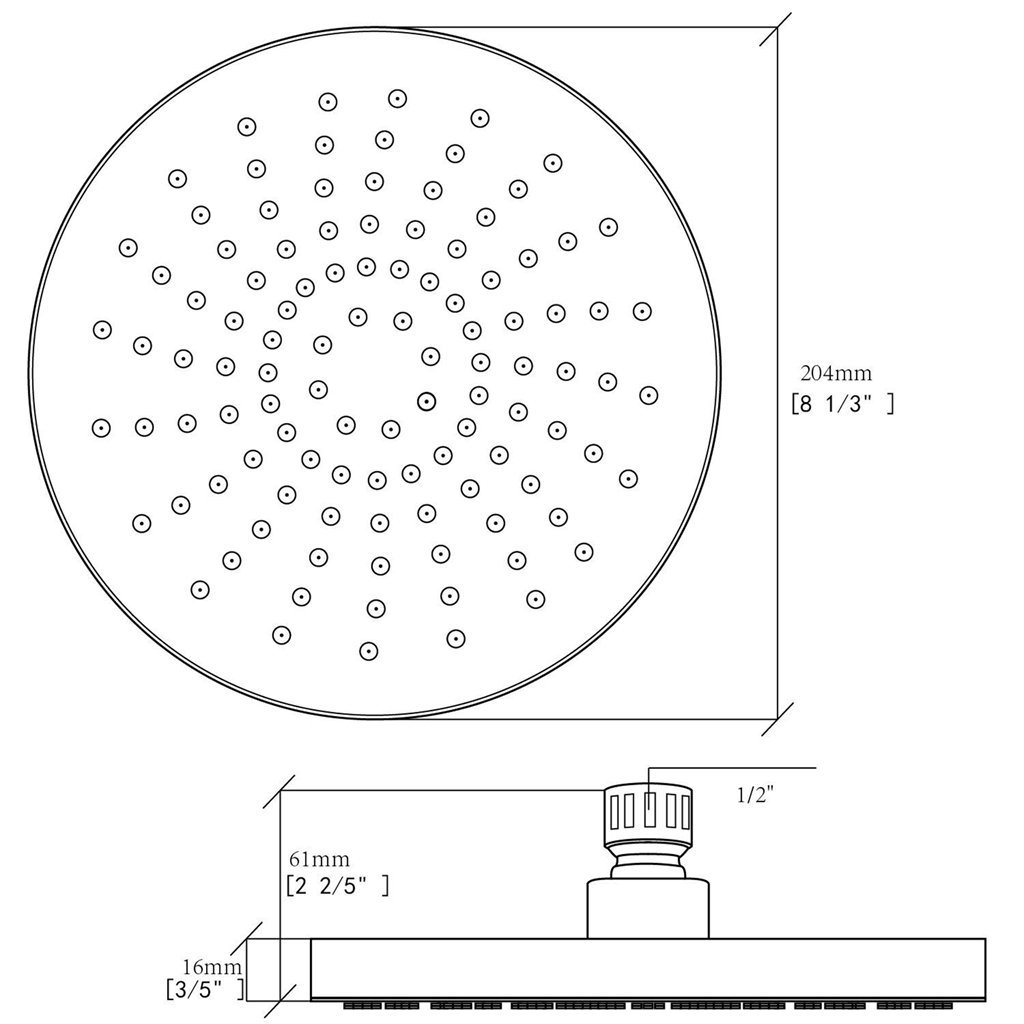 BOPai T/ête de douche en bronze huil/é jet r/églable haute pression Pommeau de douche mural 4 fonctions amovible T/ête de douche fixe
