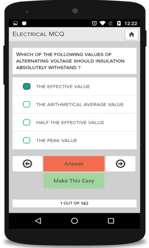 Amazon com: Electrical Study Quiz - MCQ: Appstore for Android