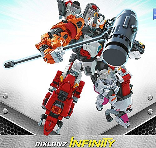 Koreatv Animation Biklonz Infinity Five Copolymers Transforming Coalescence Robot   Super Wings Sticker 1