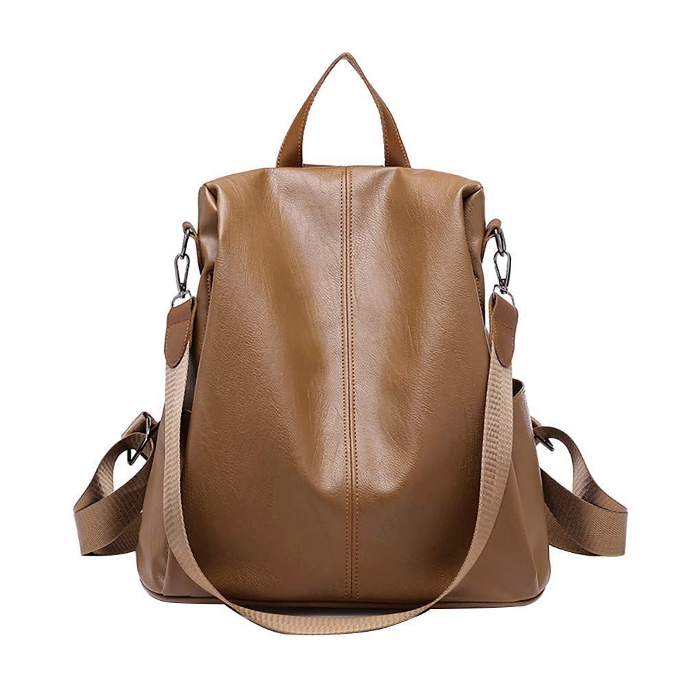 Woman Anti-theft Backpack Bag Casual Wild Soft Leather Dual-use Small  Backpack 6e9fe31c55a03