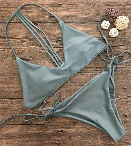 Bikini De Femme Bandage Nouveau Maillots Maillot M Corps Xwan Solide Bain bikini SZRTHT