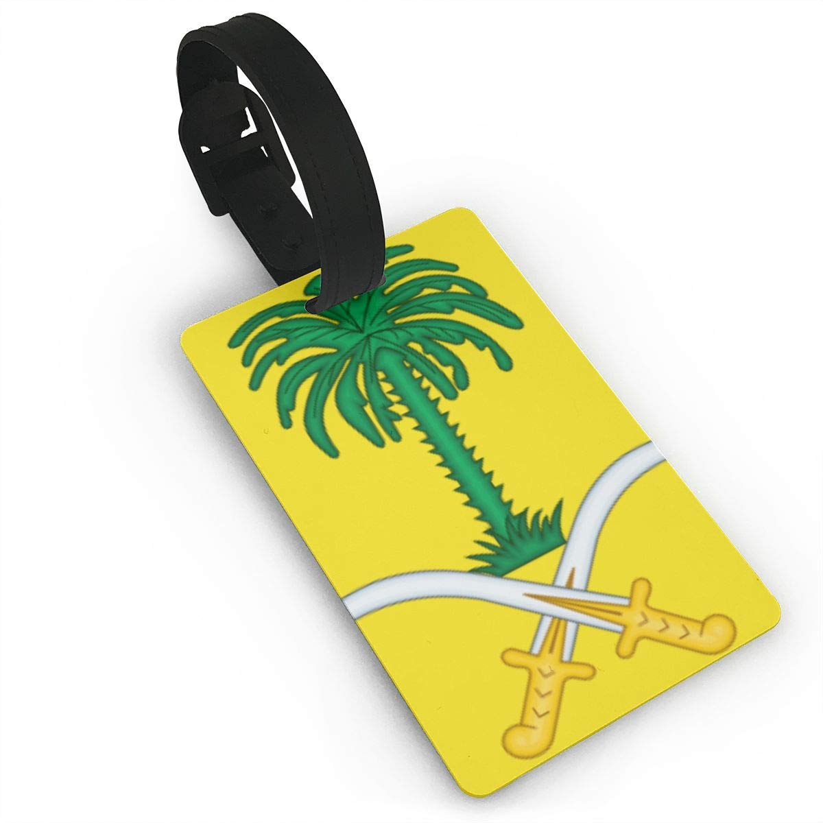 KODW12 Coat of Arms of Saudi Arabia Luggage Tag Travel Bag Labels Suitcase Bag Tag Name Address Cards