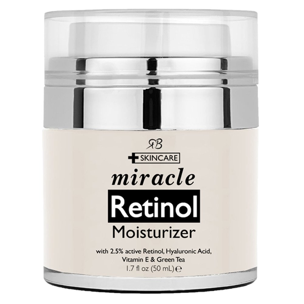 Retinol Moisturizer Cream for Face - with Retinol, Hyaluronic Acid, Vitamin E and Green Tea. Best Night and Day Moisturizing Cream 1.7 fl oz.
