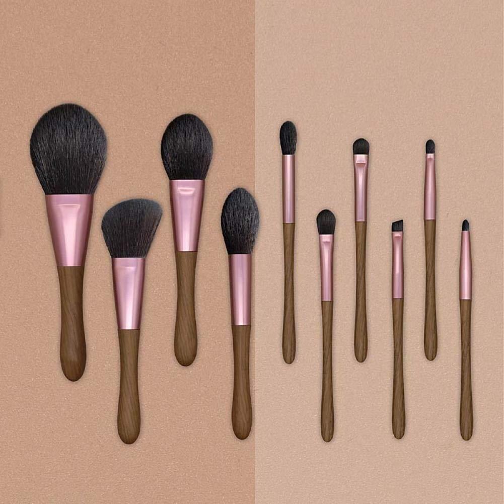 10 Holz Make-up Pinsel-Sets, professionelle Make-up Make-up Foundation, Lidschatten Pinsel, Holzgriff Kosmetik Pinsel. A