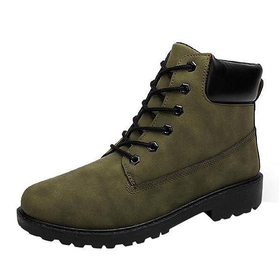XINANTIME - Zapatos con cordones para hombres Invierno Otoño cálido Martin Boots (45, Marrón): Amazon.es: Hogar