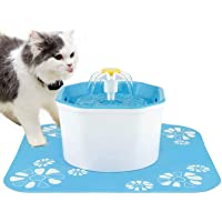 Cat Fountain, Daisy Cat Water Fountain, Pet Fountain with Clean, Fresh Water for Cats, Puppies (Blue-S)