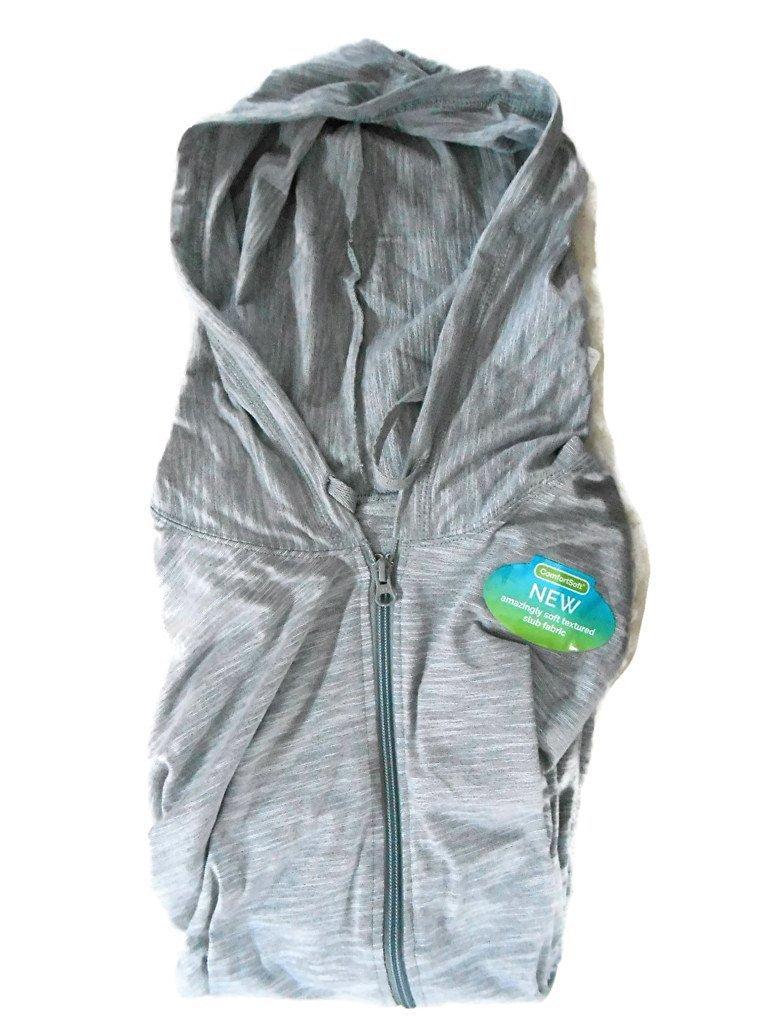 Hanes Women`s Slub Jersey Hoodie, XL, Dada Grey Heather