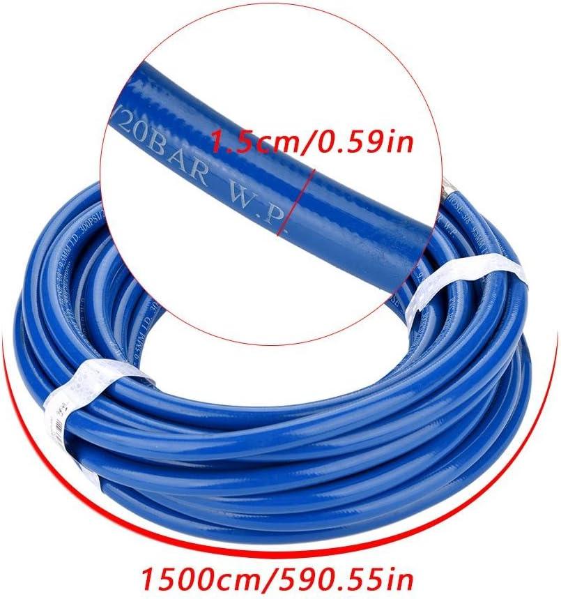 Tubo de aire Azul tubos flexibles de piel PVC Flexible 15/m con Conector r/ápido para compresor de aire