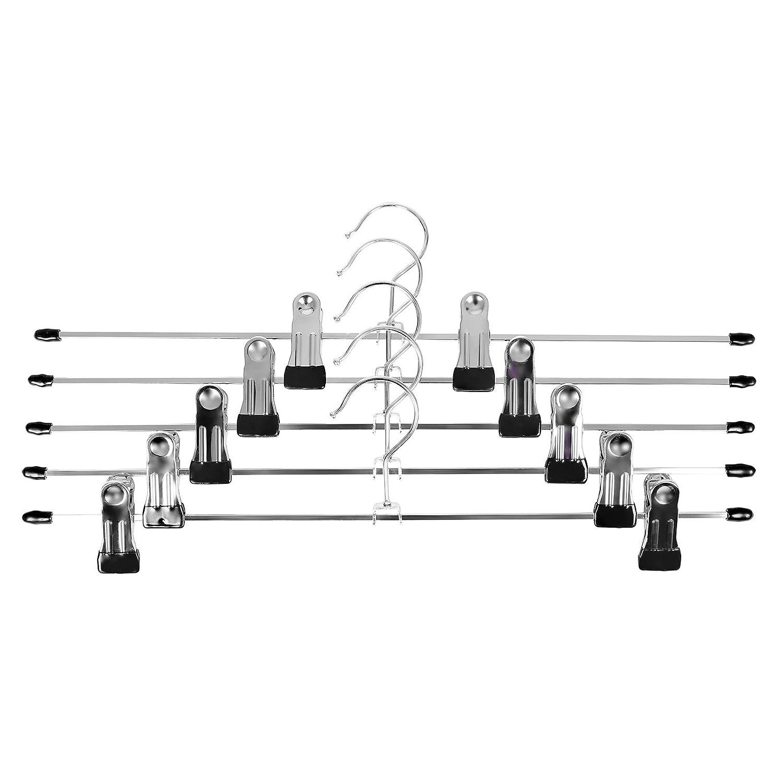 SONGMICS 40 Unidades Antideslizante Percha metálica Ajustables para 40 x 10,5 cm CRI006-40: Amazon.es: Hogar
