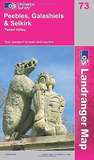 Peebles, Galashiels and Selkirk, Tweed Valley Landranger Maps OS Landranger Map