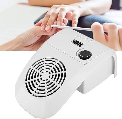 Colector de polvo de uñas 2 en 1 de 80 vatios con lámpara de manicura, potente aspirador, limpiador de succión fuerte, herramientas para uñas(UE): Amazon.es: Belleza
