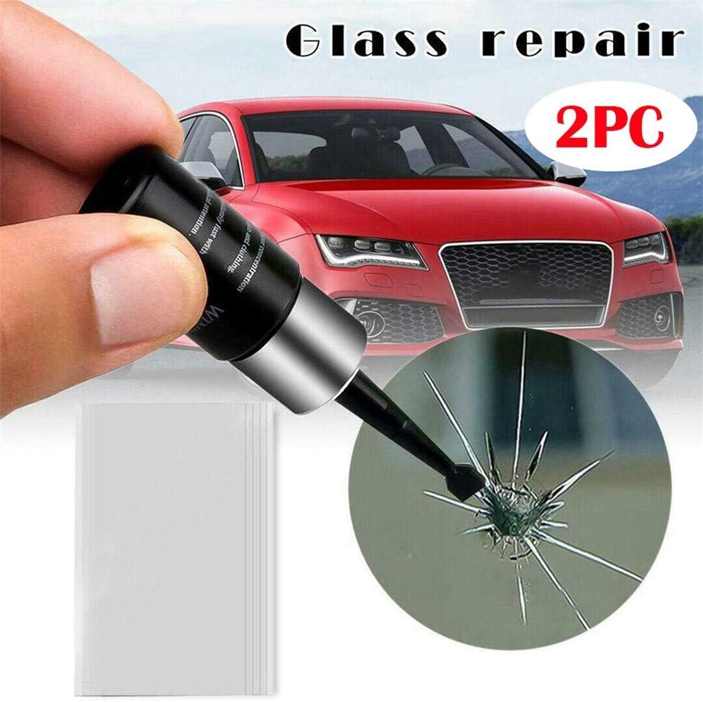 2 Oksea 1//2 Pcs Windshield Repair Kit Car Windscreen Window Glass Crack Chip Repair Tool Universal Resin DIY Kit