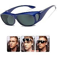 Wear Over Sunglasses for Men Women Polarized Lens, Sunglasse fit Over Prescription Glasses UV400