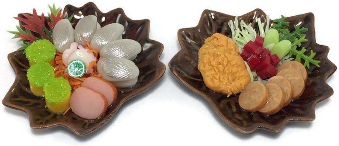Mr_air_thai_Miniature 2 Miniature Sushi Set Food Dollhouse Drink Japan Food Steak Vegetable Fruit Decor Furniture F18
