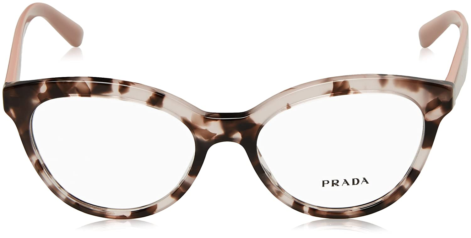 60c9c616dc3 Amazon.com  Prada TRIANGLE PR11RV Eyeglass Frames ROJ1O1-52 - Pink Havana  PR11RV-ROJ1O1-52  Shoes