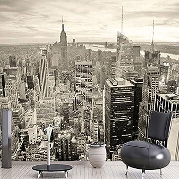 Wallpaper Experten New York noir et blanc Ville Paysage Papier Peint ...