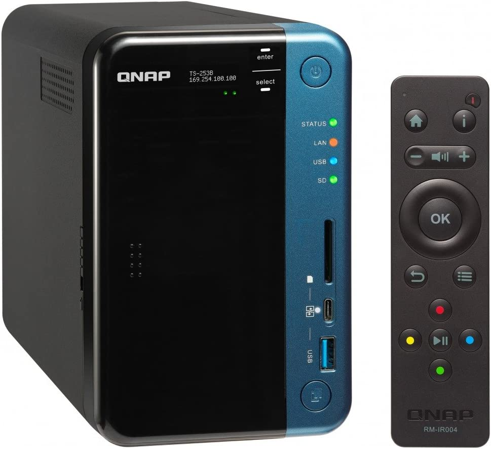 QNAP TS-253B NAS Torre Ethernet Negro - Unidad Raid (Unidad de Disco Duro, SSD, Serial ATA III, 2.5/3.5