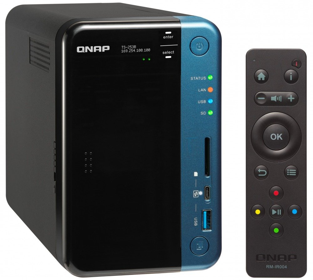 TALLA 4-bay 4GB RAM. QNAP TS-453B 4-Bay Professional-Grade ISCSI N NAS Torre Ethernet Negro - Unidad Raid (Unidad de Disco Duro, SSD, Serial ATA III, 2.5/3.5
