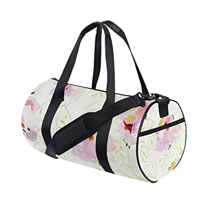 QINGYANG Duffle Bag Sports Bag Tropical Flowers Luggage Bag with Shoulder Strap for Men and Women
