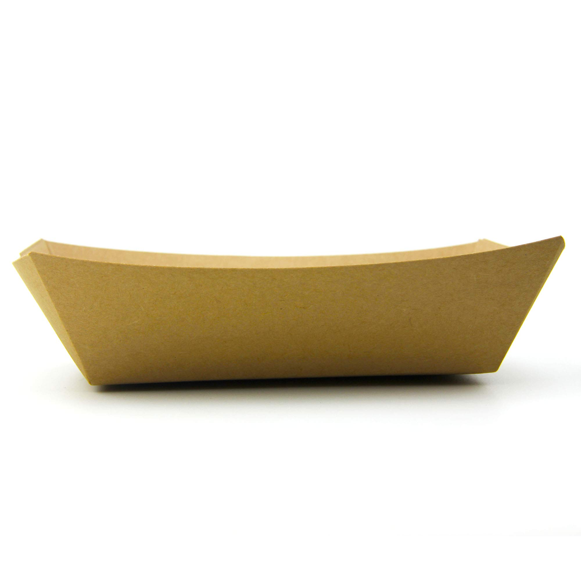 [250 Pack] 5 lb Heavy Duty Disposable Kraft Brown Paper Food Trays Grease Resistant Fast Food Paperboard Boat Basket for Parties Fairs Picnics Carnivals, Holds Tacos Nachos Fries Hot Corn Dogs by Fit Meal Prep (Image #6)