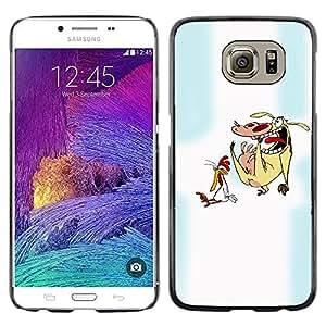 TECHCASE**Cubierta de la caja de protección la piel dura para el ** Samsung Galaxy S6 SM-G920 ** Cartoon Characters Chicken Cow Animals Art