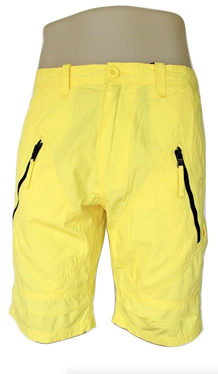 A|X Armani Exchange Armani Exchange Mens Utility Zip Cargo Short, Yellow, Size 38
