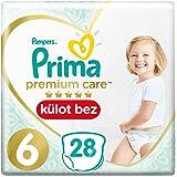 Prima Premium Care Külot Bebek Bezi, 6 Beden, 28 Adet, Ekstra Large İkiz Paket
