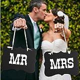 """SwirlColor 1set """"Mr & Mrs"""" Décoration Lettre Garland Bannière de soirée de mariage"""