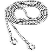 Square Copper Purse Shoulder Cross Body Handbag Bag Chain Strap Replacement (Silver, 47'')