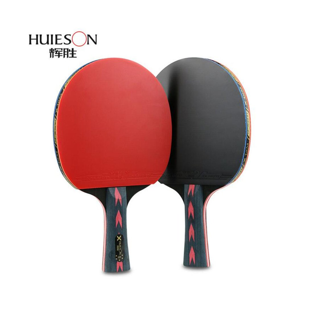 Amazon.com : Five-star table tennis rackets 2 packs Double shot To shoot Professional training table tennis racket (1 long +1 short) : Sports & Outdoors