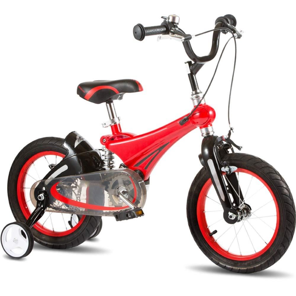 Axdwfd Bici per Bambini Biciclette per Bambini, Biciclette per Bambini 12 14 16 Pollici con rossoella di addestramento Ragazzo e Ragazza in Bicicletta Adatto per Bambini di età Compresa tra 2-8