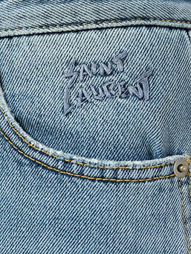 Laurent Jeans Bleu Coton 500456Y868M4061 Saint Femme 6nBq17nwg