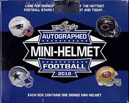bff8f788e1b Image Unavailable. Image not available for. Color  2018 Leaf Autographed  Mini Helmet Football Box