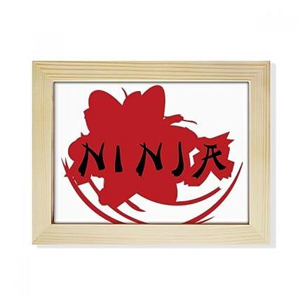 DIYthinker Palabras Japón Sakura Ninja Silueta de Escritorio ...