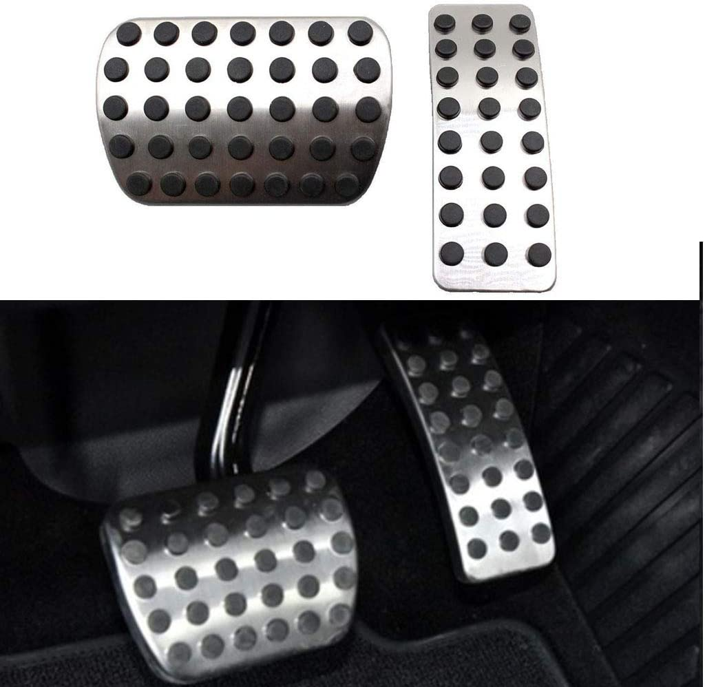 2pcs Accelerator Brake Pedal Cover Gas Pedal Fit For Mercedes-Benz A-Class W176