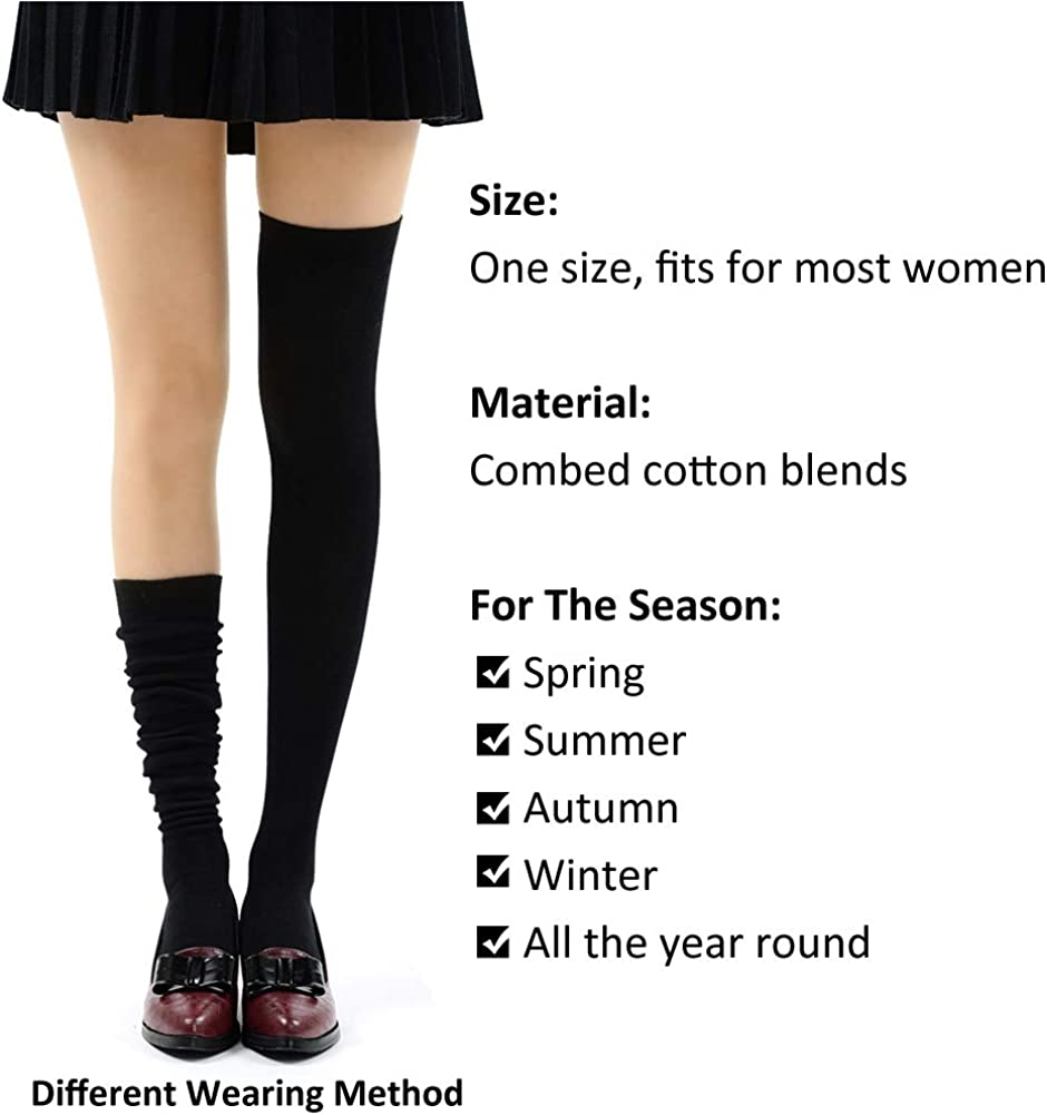 Women Crew Socks Thigh High Knee Line Flower Long Tube Dress Legging Casual Compression Stocking
