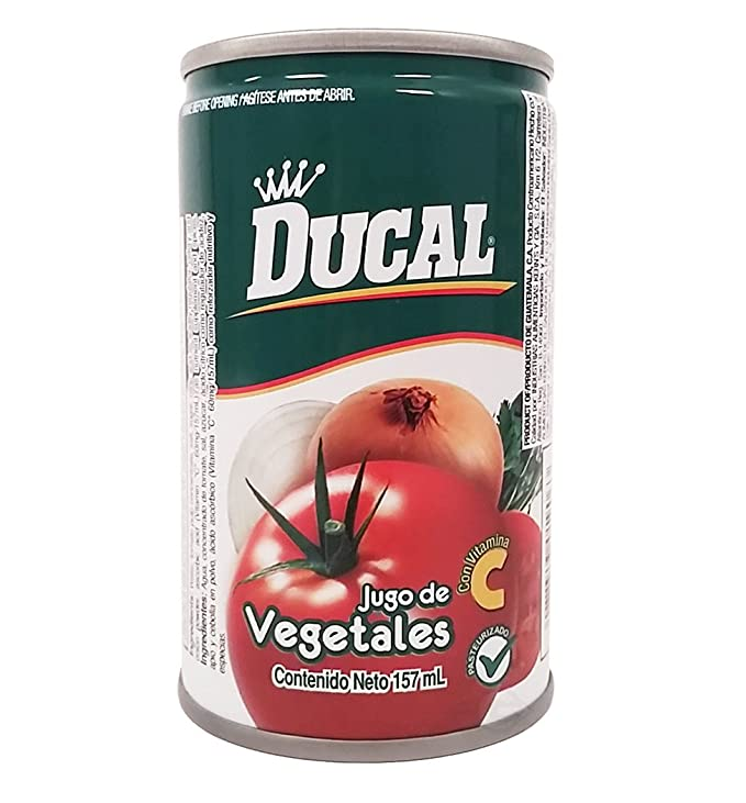 Amazon.com : Ducal Vegetables Juice 5.3 oz fl - Jugo de Vegetales (Pack of 12) : Grocery & Gourmet Food