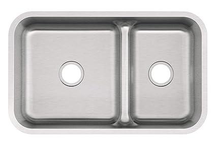 Mirabelle Mirurb3421 34 Double Basin Stainless Steel Kitchen Sink With 70 30 Split Undermount Installation