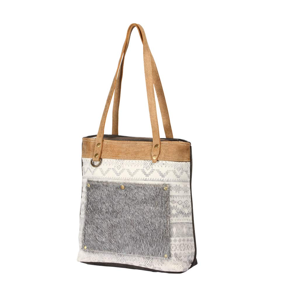 6004f64d8c66 Amazon.com: Myra Bag Sequential Pocket Upcycled Canvas & Cowhide ...