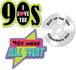 product image for Big Dot of Happiness 90's Throwback - DIY Shaped 1990s Party Cut-Outs - 24 Count